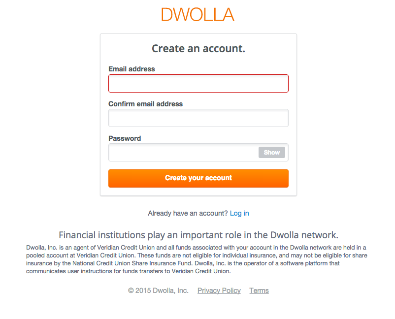 create a Dwolla account