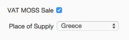 VAT MOSS sale