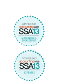 software satifisfaction award 2013 - winner logo for accounting and bookkeeping support and expenses support