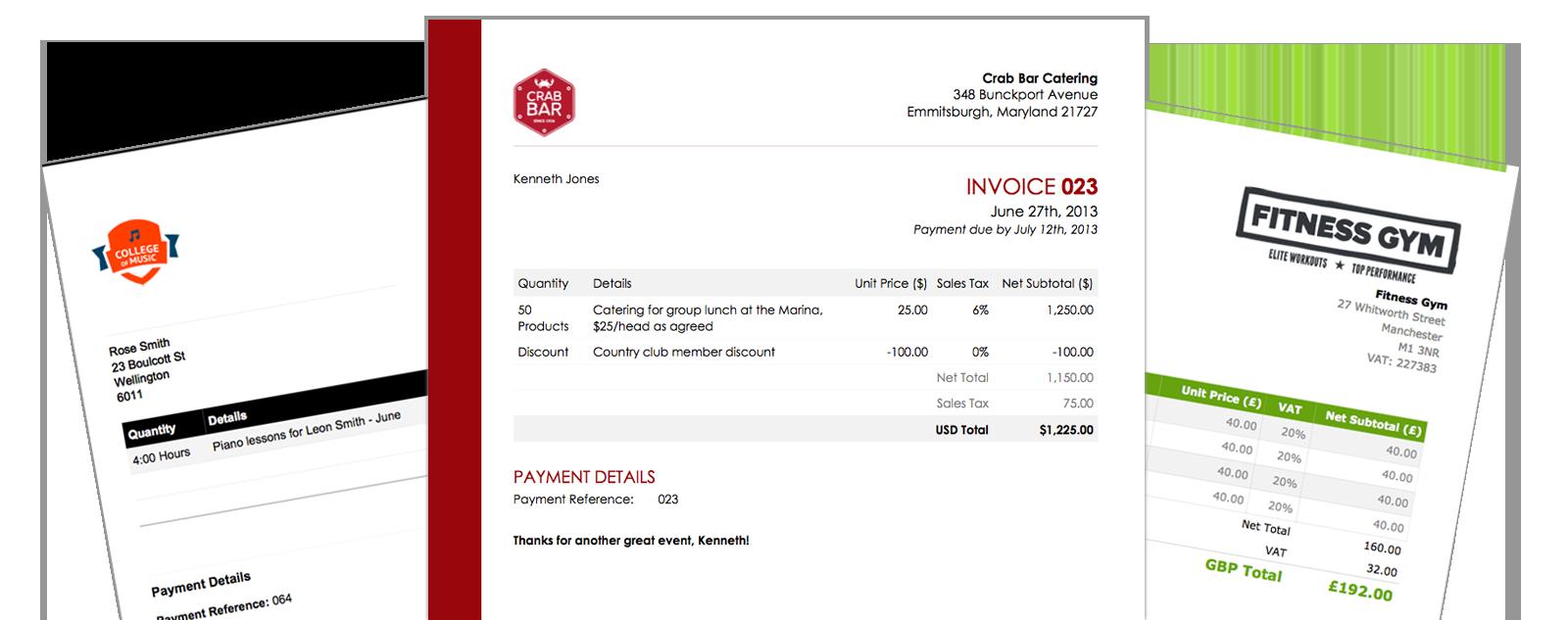 Forex invoice sample